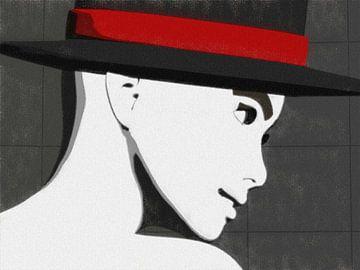 Frau mit Hut von Maurice Dawson