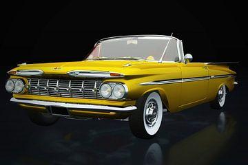 Chevrolet Impala aus den 1950er Jahren in der Dreiviertelansicht von Jan Keteleer