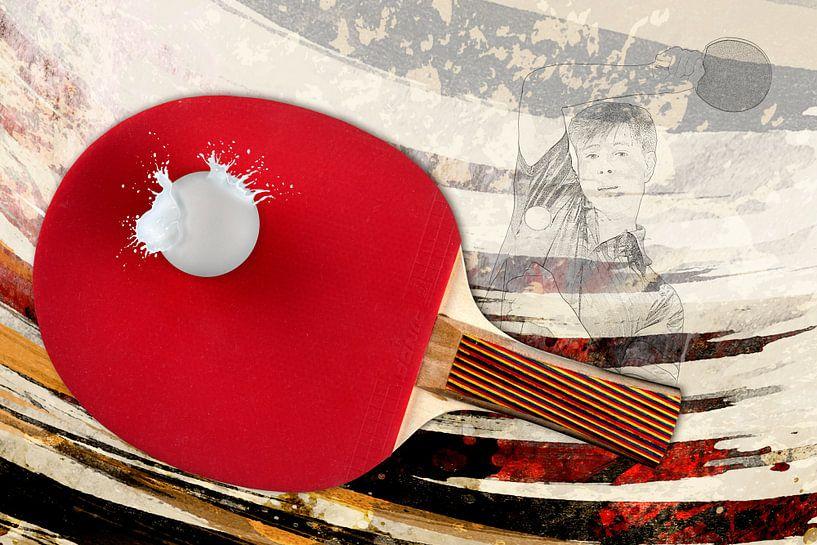 Sport trifft Splash - Tischtennis von Erich Krätschmer