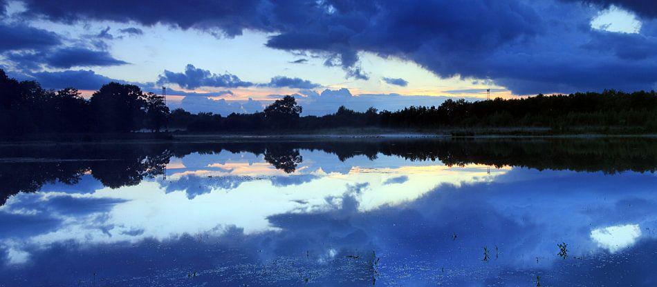 Panorama na zonsondergang van Patrick Brouwers