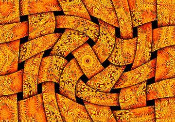 Waving Weaves in Yellow (Gewoven Golven in Geel) van Caroline Lichthart