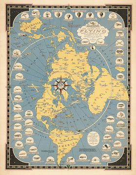 Storymap van vliegen van World Maps
