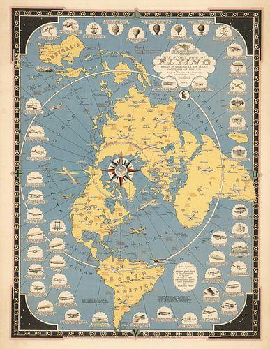 La carte de l'histoire de voler sur