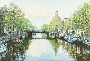 Schilderij: Amsterdam, Singel van