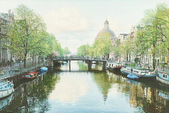 Schilderij: Amsterdam, Singel