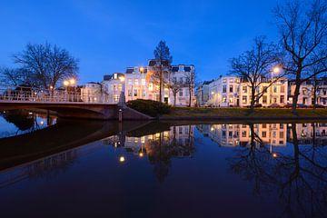 Maliesingel in Utrecht tussen de Herenbrug en de Maliebaan von Donker Utrecht