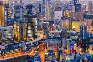Osaka skyline van