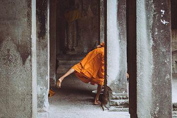 Ein schöner Schnappschuss in einem Tempel in Kambodscha von Karlijne Geudens