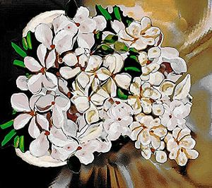 Nature- Floral Chalk Painting von Annaluiza Dovinos