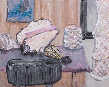 Stilleven met schelpen van Tanja Koelemij
