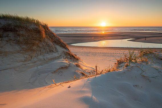 Zonsondergang bij de Slufter, Texel