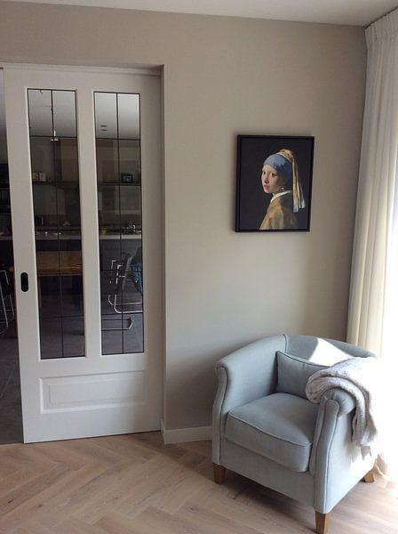 Kundenfoto: Das Mädchen mit dem Perlenohrgehänge - Vermeer Gemälde