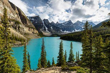 Moraine Lake in den Rocky Mountains von Roland Brack