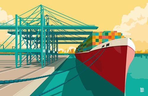 Rotterdam Hafen von Remko Heemskerk