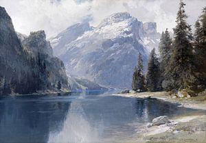 Pragser Wildsee, EDWARD THEODORE COMPTON, Um 1880