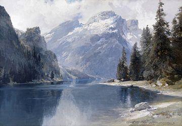 Pragser Wildsee, EDWARD THEODORE COMPTON, Um 1880 von Atelier Liesjes