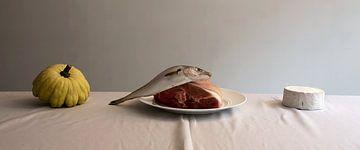 155-Fromage de citrouille au jambon de poisson sur Hay Hermans