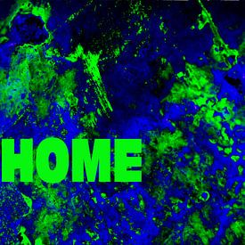 Abstracte kunst - Home is where the heart is van Alice Berkien-van Mil