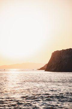 Sonnenuntergang bei Melinta, Lesbos von Tes Kuilboer