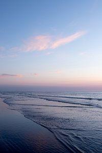 Portret landschap zonsondergang aan de kust van Ameland fine art fotografie van Karijn | Fine art Natuur en Reis Fotografie