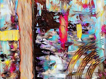 Abstracte kunst - De rivier van Patricia Piotrak