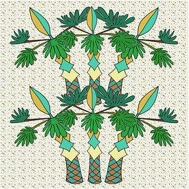 Palmiers accueillants sur MY ARTIE WALL