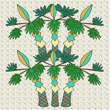 Palmiers accueillants sur