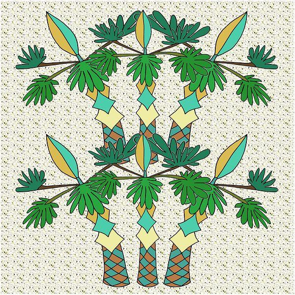 PALM ART DECO van Marijke Mulder