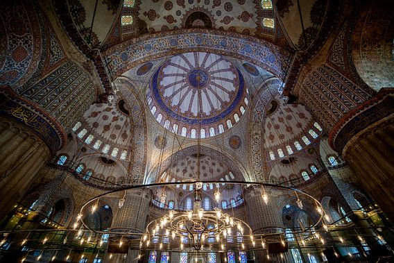 Binnen de Blauwe moskee