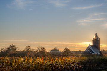 Kerk Lienden met fruitbomen van Moetwil en van Dijk - Fotografie