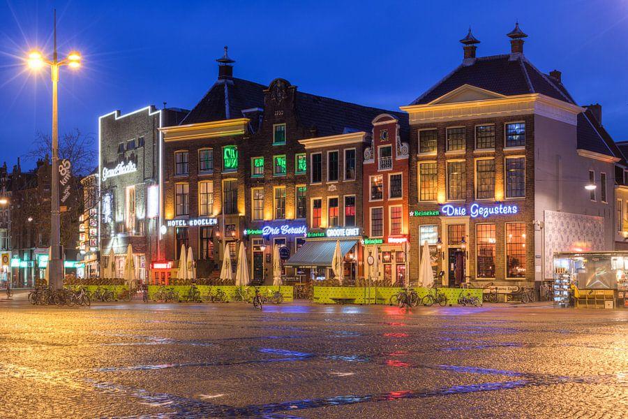 Grote Markt Groningen bij Avond