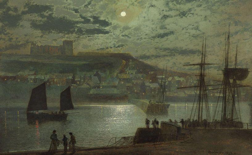 Whitby Harbor, John Atkinson Grimshaw von Meesterlijcke Meesters