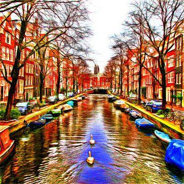 Colorful Amsterdam #107 van Theo van der Genugten