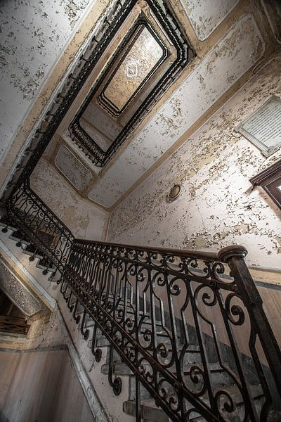 Stairs of a asylum  van Olivier Van Cauwelaert