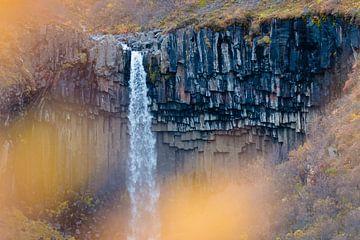 Svartifoss waterval van Marly Tijhaar