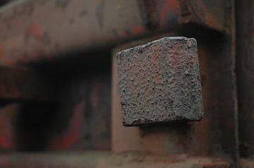 Metalen detail van een oude trein. van