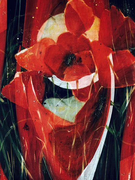 Roter Mohn - abstrakt von Christine Nöhmeier