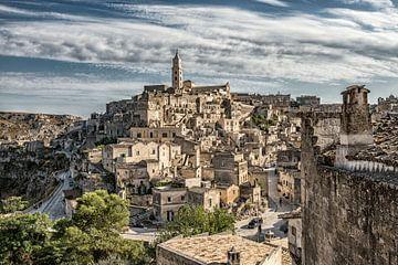Italiaanse stad Matera in Basilicata Italië. van Ron van der Stappen