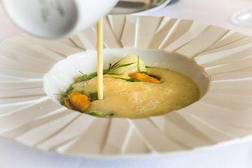 Voorgerecht haute cuisine van Stefania van Lieshout
