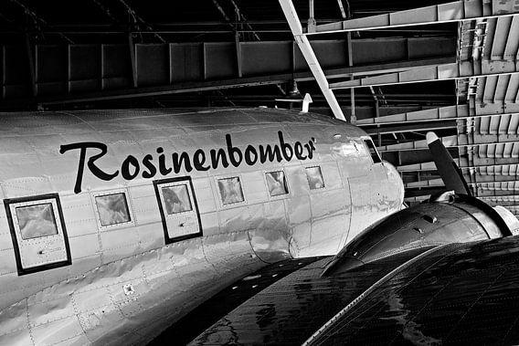 Rozijnenbommenwerper in Berlijn-Tempelhof