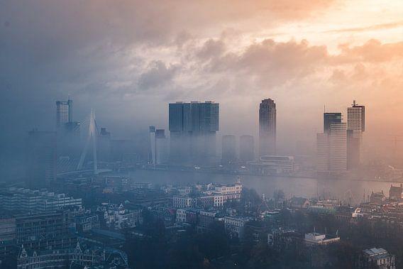 Skyline Rotterdam van AdV Photography