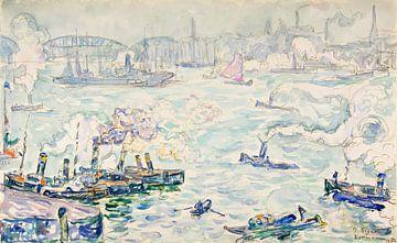 Haven van Rotterdam, Paul Signac, 1906 van Atelier Liesjes