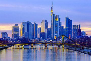 Frankfurtse skyline van Patrick Lohmüller