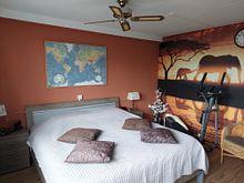Klantfoto: Wereldkaart, Klassiek van MAPOM Geoatlas, op canvas