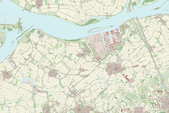 Kaart van Moerdijk