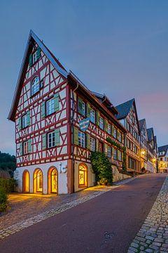 Vakwerkhuizen in Schiltach op een zomeravond van Henk Meijer Photography