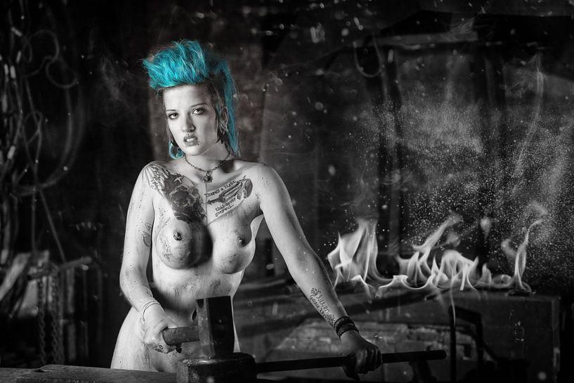 Naakte vrouw in zwart en wit van Tilo Grellmann | Photography