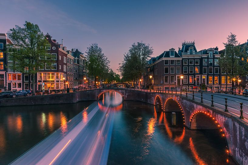 Ein Abend in Amsterdam von Henk Meijer Photography