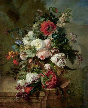 Stilleven met bloemen, Harmanus Uppink