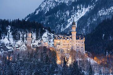 Château de Neuschwanstein, Allgäu, Bavière, Allemagne sur Henk Meijer Photography